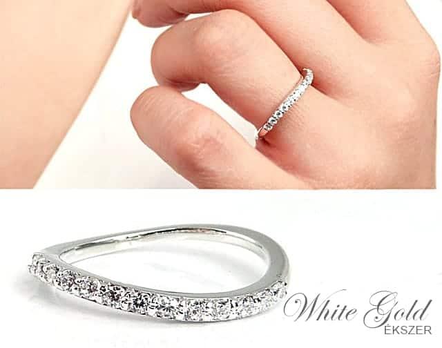 fehér arany eljegyzési gtyűrű
