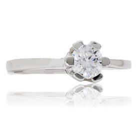 fehér arany eljegyzési gyűrű