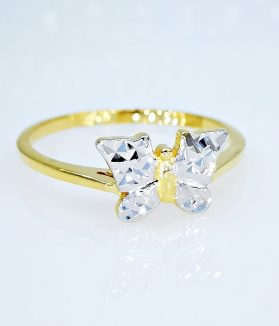 arany gyűrű pillangós