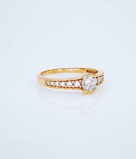 rozé arany gyűrű