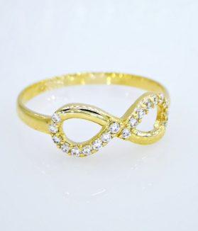 végtelen jel arany gyűrű
