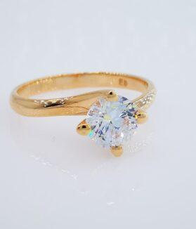 Rozé arany eljegyzési gyűrű