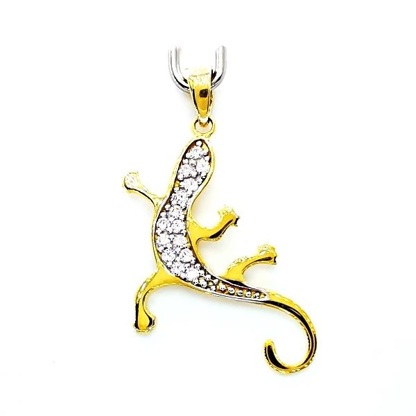 arany gekkó medál