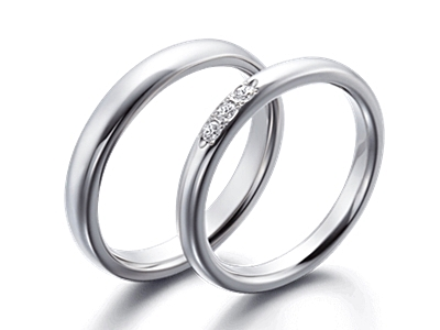 fehér arany gyűrűpár