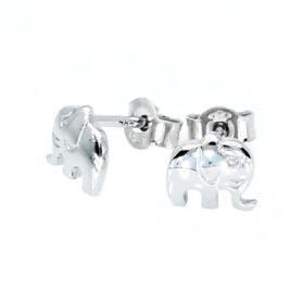 bedugós fehér arany elefánt fülbevaló