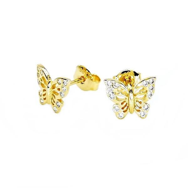 arany pillangó fülbevaló