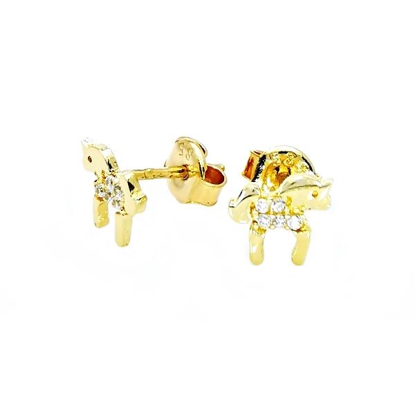 arany ló fülbevaló
