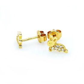 bedugós arany nyuszi fülbevaló