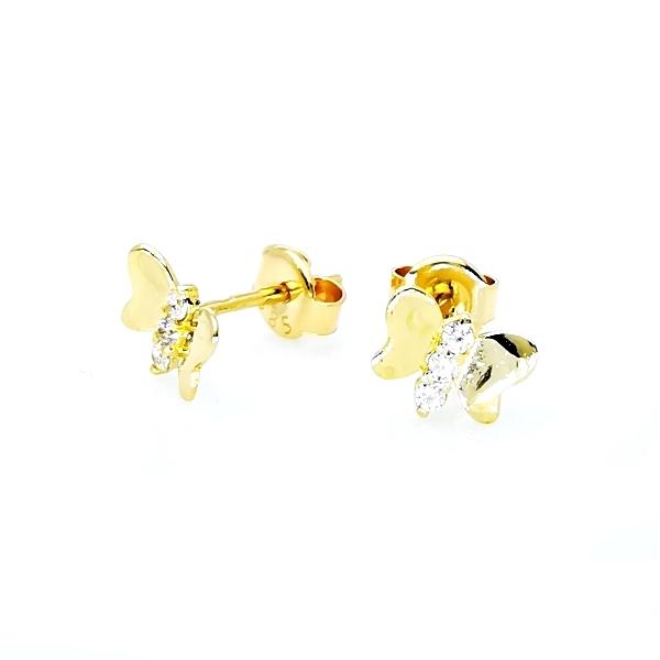 bedugós arany pillangó fülbevaló