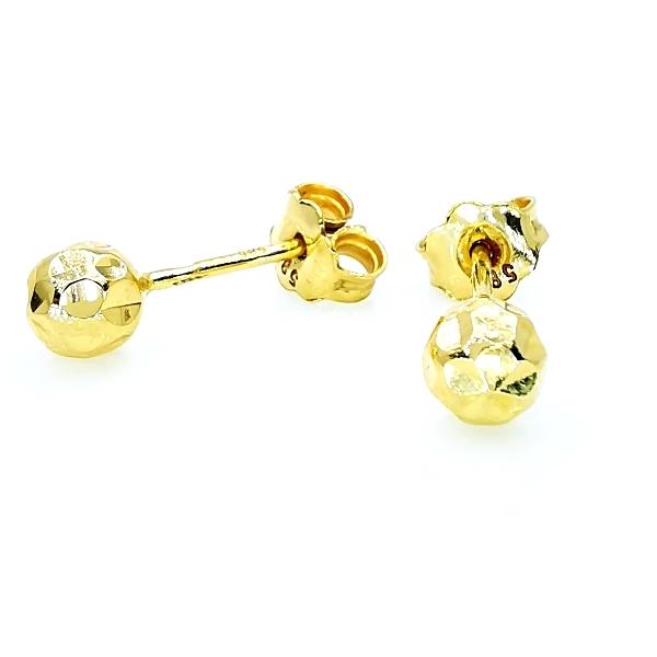 gömb arany fülbevaló