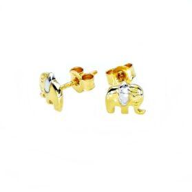 arany elefánt fülbevaló