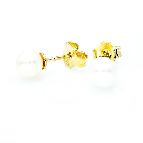 arany gyöngy fülbevaló
