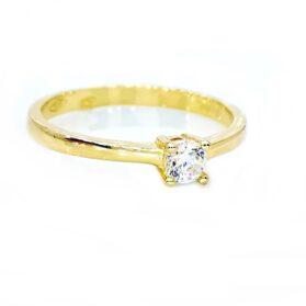 sárgaarany eljegyzési gyűrű