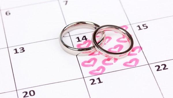 Esküvő dátum kiválasztása