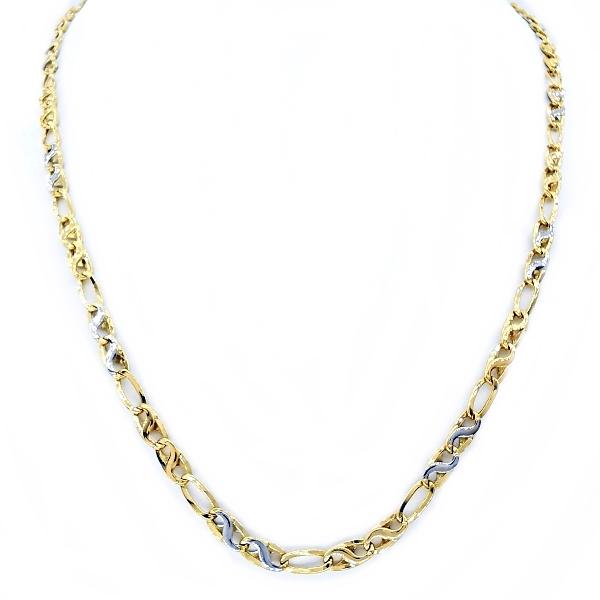 kétszínű arany nyaklánc